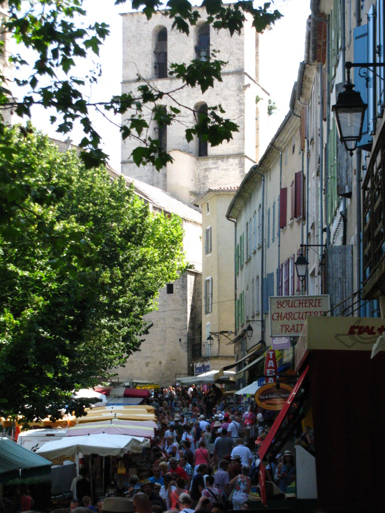 Farmer's market in Forcalquier - crowds didn't bother me at least...
