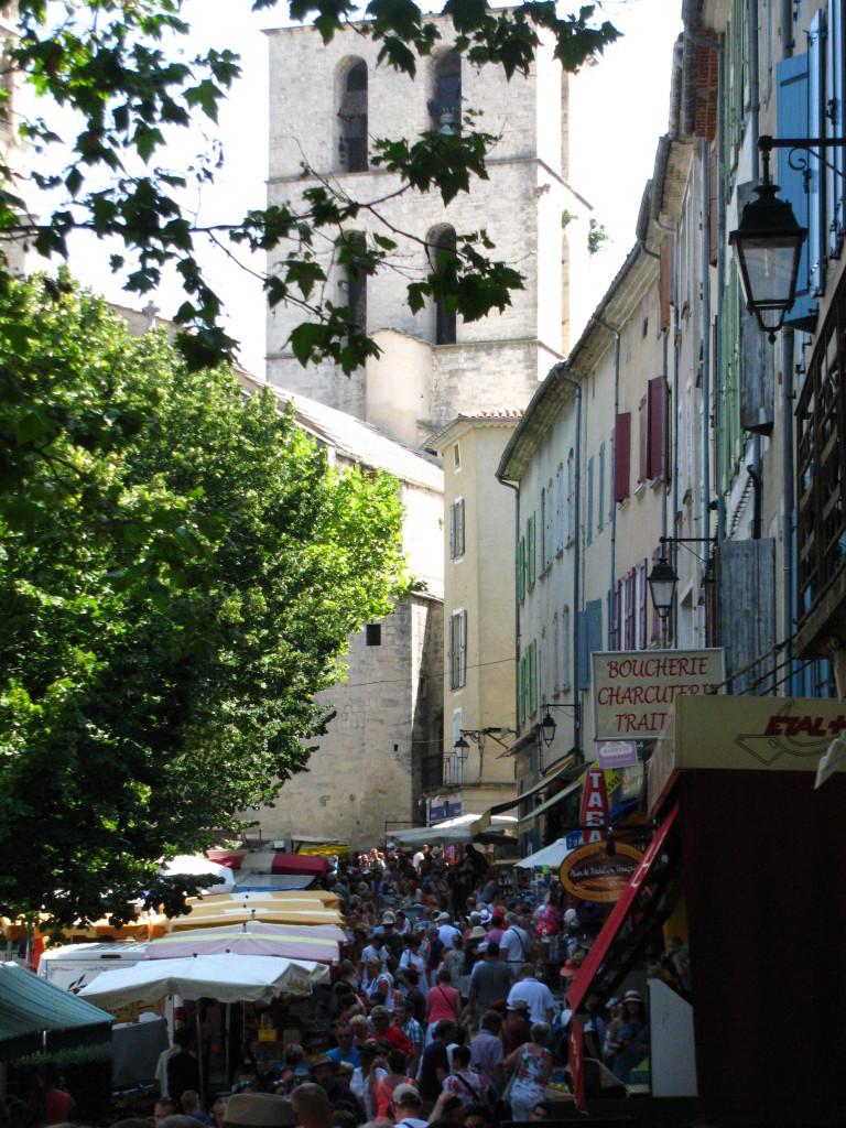 Tržnica u Forcalquieru – gužva me nije ni najmanje smetala...