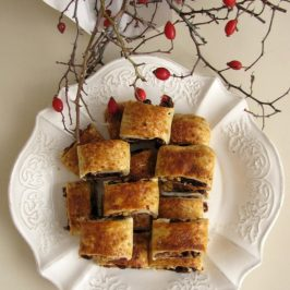 Dried Cranberries and Walnuts Rugelach