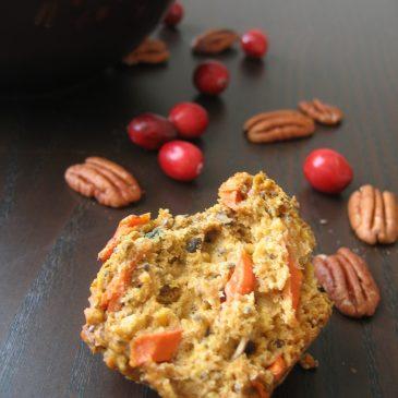 Muffini s bundevom, mrkvom i brusnicama