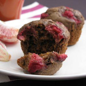 Raspberry Buckwheat Oat Muffins