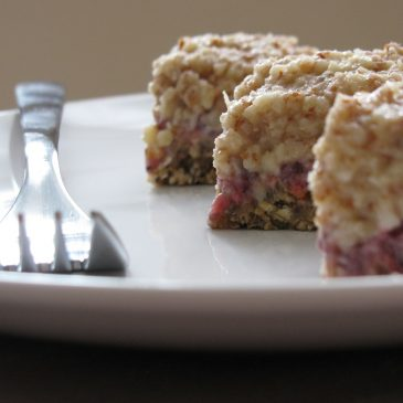 Raw Strawberry Bars with Coconut Almond Cream