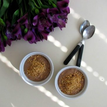 Chocolate Cream of Buckwheat with Roasted Hazelnuts