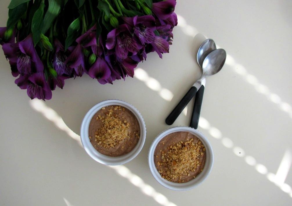 Chocolate Cream of Buckwheat with Roasted Hazelnuts