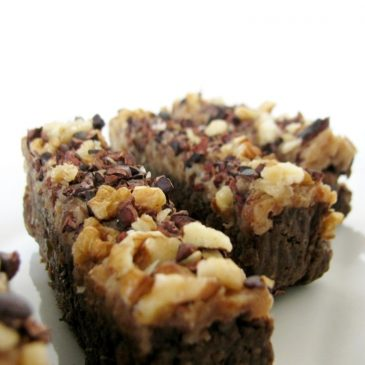 Raw Walnut Bars with Date Cream