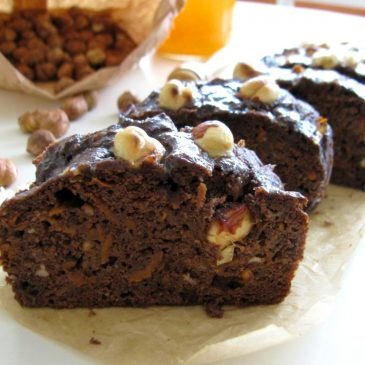 Cacao Coffee Cake with Carrots and Hazelnuts