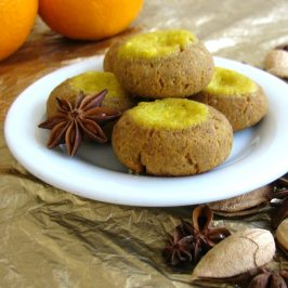 Christmas-spiced Thumbprints with Orange Curd