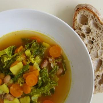 Kale, Sweet Potato and Bean Soup