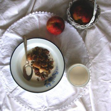 Rhubarb and Apple Crumble {grain-free, sugar-free}