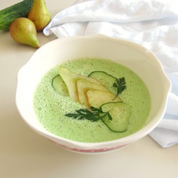 {Updated} Cold Cucumber and Pea Soup