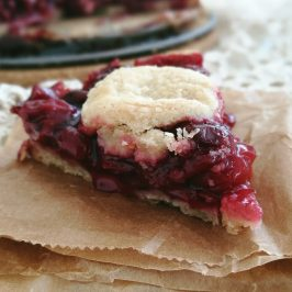 Cherry Pie (gluten free, refined sugar free)