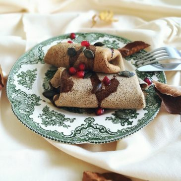 Pumpkin and Almond Ricotta Stuffed Buckwheat Crêpes (V)