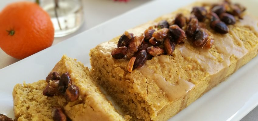 Clementine Cake with Caramelized Pistachios (V)
