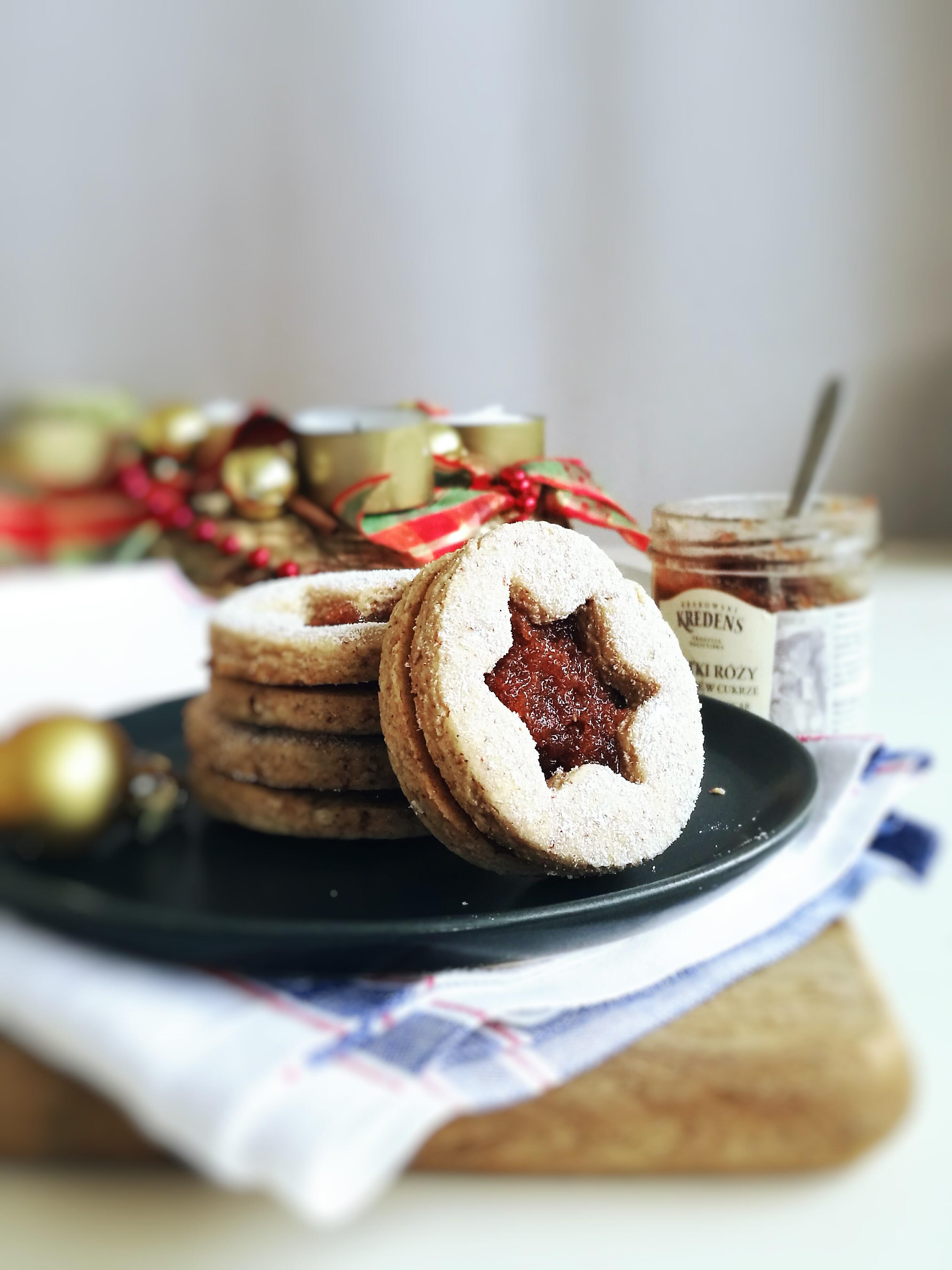 Vegan and GF Linzer Cookies