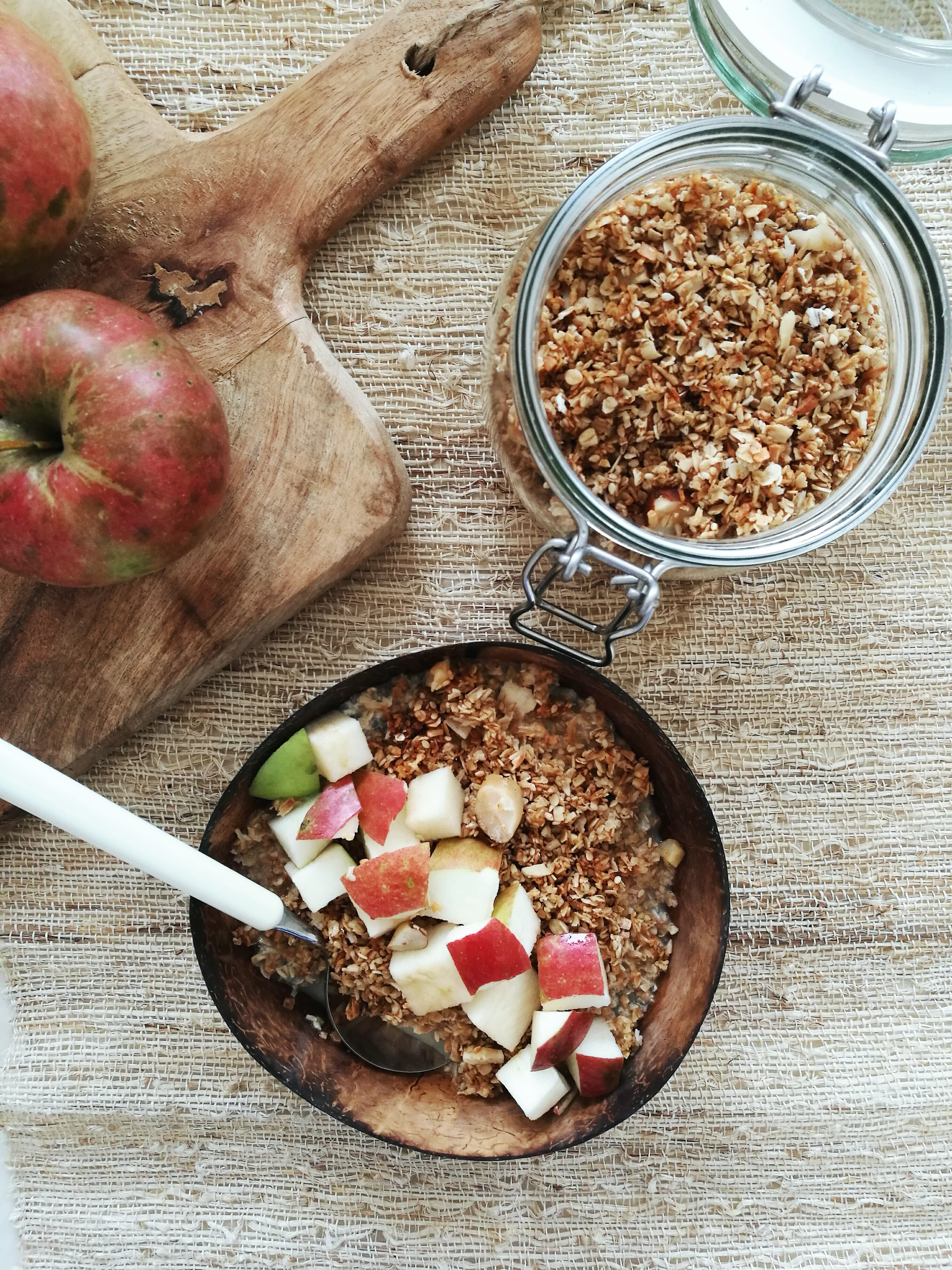 Sesame Coconut Granola_bowl_culinary postcards
