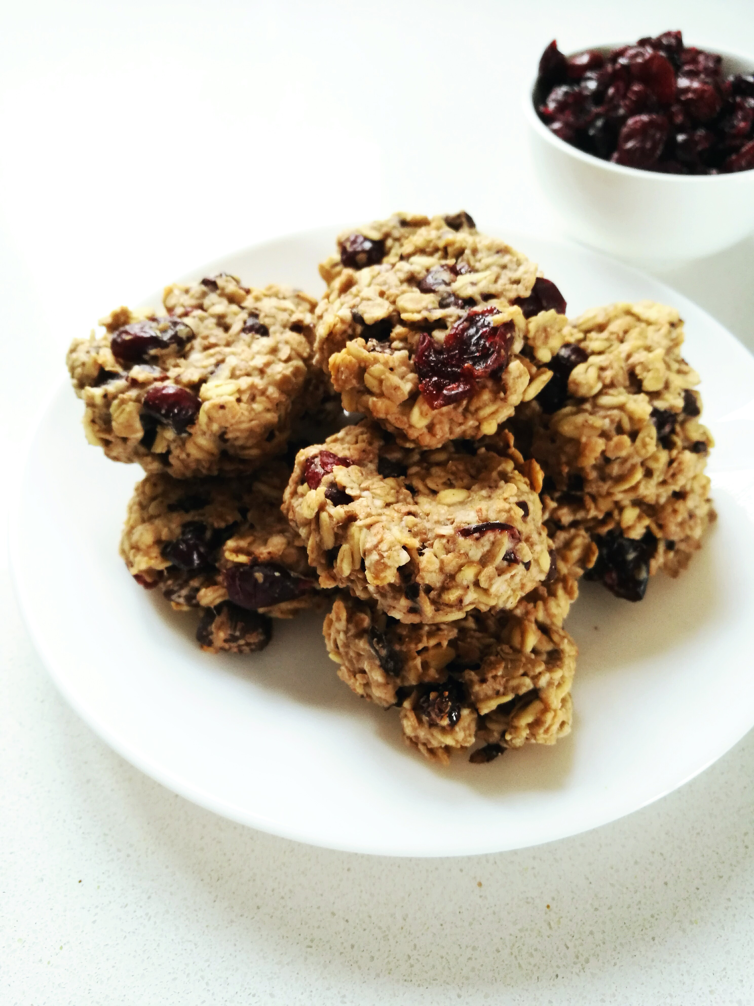 Cranberry and Dark Chocolate Oatmeal Cookies